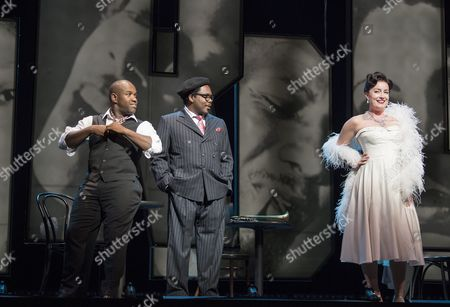 Stock Picture of Lawrence Brownlee as Charlie Parker, Will Liverman as Dizzy Gillespie, Rachel Sterrenberg as Chan Parker