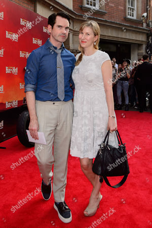 Jimmy Carr with his wife Karoline Copping