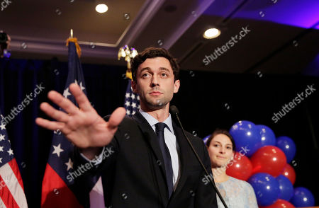 Jon Ossoff, Alisha Kramer Democratic candidate for 6th congressional district Jon Ossoff, left, concedes to Republican Karen Handel while joined by his fiancee Alisha Kramer at his election night party in Atlanta