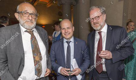 Professor Jerzy Sarnecki, Morgan Johansson and Erik Wennerström