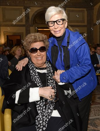 The sisters Carla and Anna Fendi