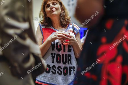 Jill Vogin attends an election night party for Democratic US House of Representatives candidate Jon Ossoff in Atlanta, Georgia, USA, 20 June 2017. Ossoff faced Republican Karen Handel in the expensive and closely watched special runoff election to fill Georgia's 6th Congressional District seat previously held by Health and Human Services Secretary Tom Price, a Republican.
