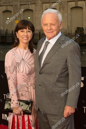 Stock Picture of Stella Arroyave and Sir Anthony Hopkins