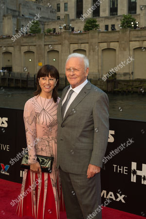 Stock Photo of Stella Arroyave, Sir Anthony Hopkins