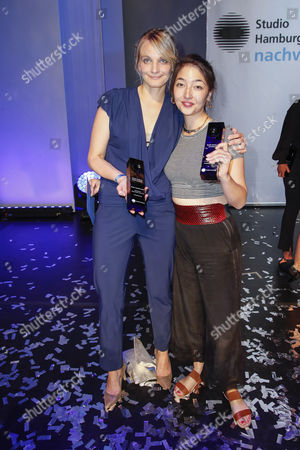 Stock Photo of Julia Drache and Mia Spengler
