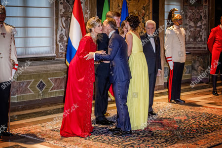 Stock Picture of Queen Maxima, King Willem Alexander, Jaime Bernardo de Bourbon de Parma, Viktoria de Bourbon de Parma