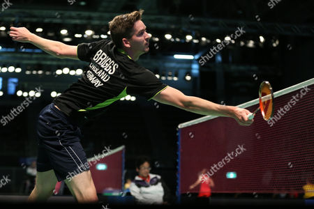 Jhe-Huei Lee and Yang Lee (Chinese Taipei) defeat Peter Briggs and Tom Wolfenden (England), 21-17, 21-15 In the Men's Doubles.