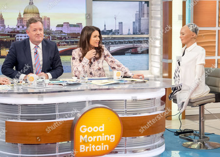 Piers Morgan and Susanna Reid with Sophia The Social Robot with Dr David Hanson