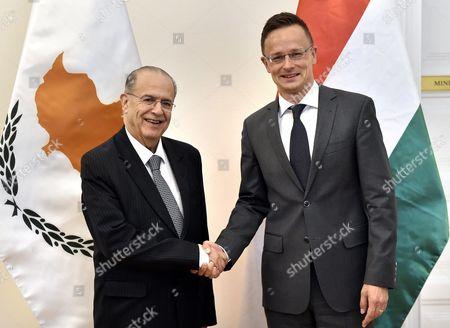 Ioannis Kasoulides and Peter Szijjarto