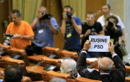 Editorial image of Grindeanu cabinet was ousted today by a no-confidence vote, Bucharest, Romania - 21 Jun 2017