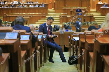 Editorial picture of Grindeanu cabinet was ousted today by a no-confidence vote, Bucharest, Romania - 21 Jun 2017