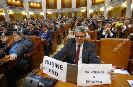 Editorial photo of Grindeanu cabinet was ousted today by a no-confidence vote, Bucharest, Romania - 21 Jun 2017