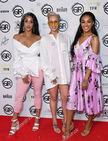 Stock Image of Alexandra Buggs, Courtney Rumbold, Karis Anderson (Stooche)