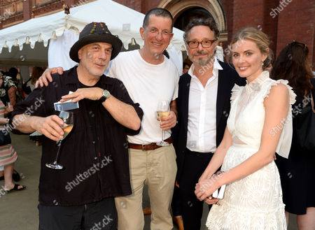 Ron Arad, Antony Gormley, guest and Donna Air