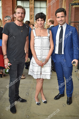 Jacobi Anstruther-Gough-Calthorpe, Eva Geraldine and Leo Fenwick attend the V&A Summer Party at the Victoria and Albert Museum, London on Wednesday 21st June 2017.