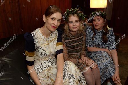 Roksanda Ilincic, Lucy Boynton and Amy Powney