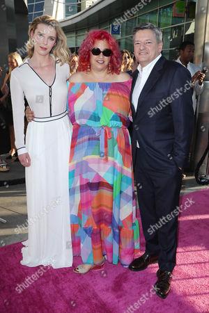 Betty Gilpin, Jenji Kohan and Ted Sarandos
