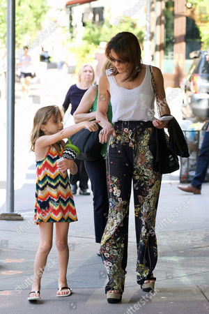 Editorial picture of Bethenny Frankel and Bryn Hoppy out and about, New York, USA - 21 Jun 2017
