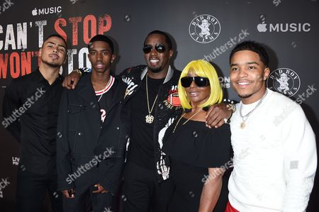 Janice Combs with Sean Combs and Sons Christian, Quincy and Justin