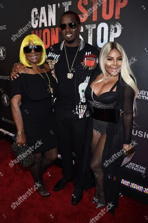 Sean Combs with Mother Janice Combs and Lil Kim