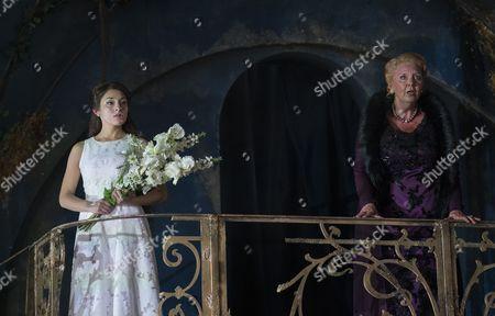 Andrea Carroll as Melisande, Susan Bickley as Genevieve