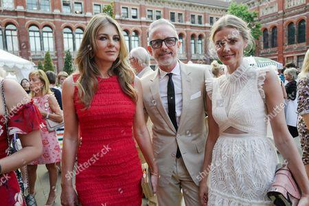 Elizabeth Hurley, Patrick Cox and Donna Air