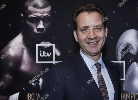 From ITV Sport IBO WORLD SUPER MIDDLEWEIGHT CHAMPIONSHIP EUBANK JR VS ABRAHAM Saturday 15th July on ITV Box Office Pictured: The Big Fight Live host Mark Pougatch