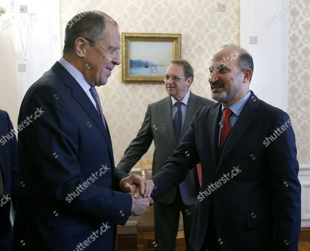 Stock Photo of Sergei Lavrov and Ahmad Jarba