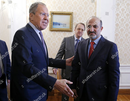 Sergei Lavrov and Ahmad Jarba