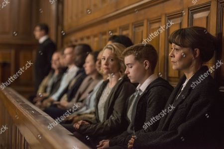 Stock Image of (Episode 4) - Helen McCrory as Emma Banville, Rebecca Callard as Annie Peterson and Jack Hollington as Jason Peterson.