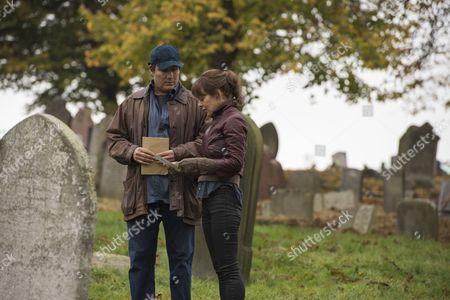 Stock Photo of (Episode 4) - Helen McCrory as Emma Banville and Corey Johnson as Larry Arlman.