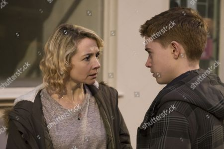 Stock Image of (Episode 4) - Rebecca Callard as Annie Peterson and Jack Hollington as Jason.