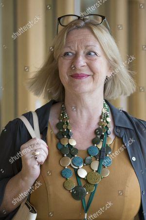 Linda Fabiani, Deputy Presiding Office of The Scottish Parliament, makes her way to the Debating Chamber