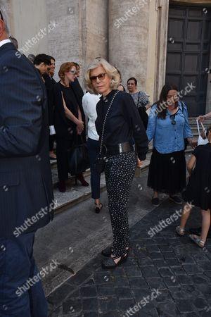 Editorial image of Carla Fendi funeral, Santa Maria di Montesanto church, Rome, Italy - 22 Jun 2017