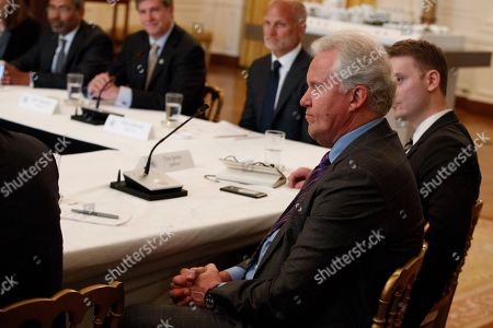 "GE CEO Jeff Immelt listens during the ""American Leadership in Emerging Technology"" event with President Donald Trump in the East Room of the White House, in Washington"