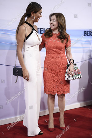 German entrepreneur Verona Pooth (L) and German-Greek singer Vicky Leandros attends the red carpet of the Bertelsmann party 2017 in Berlin, Germany, 22 June 2017. More than 800 guests are invited for the Bertelsmann Party 2017.