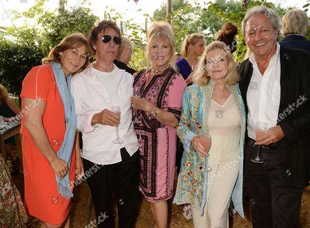 Lulu Hutley, Jeff Beck, Pattie Boyd, Jo Miller and Rod Weston