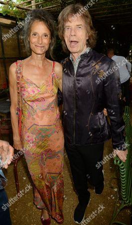 Tracy Louise Ward and Mick Jagger