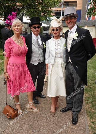 Stock Picture of Nettie Mason, Nick Mason, Angie Rutherford, Mike Rutherford