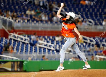 Editorial photo of Cubs Marlins Baseball, Miami, USA - 22 Jun 2017
