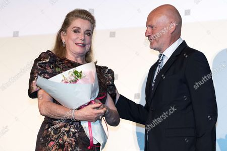 French movie star Catherine Deneuve and UniFrance president Jean Paul Salome