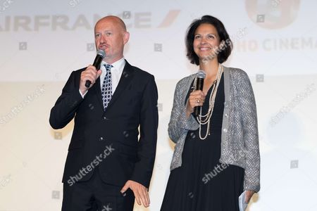 UniFrance president Jean Paul Salome and UniFrance general director Isabelle Giordano