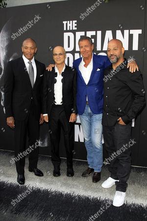 Dr Dre, Jimmy Iovine, Richard Plepler and Allan Hughes