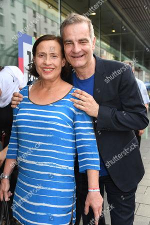 Stock Photo of Heinrich Schafmeister with wife Jutta,
