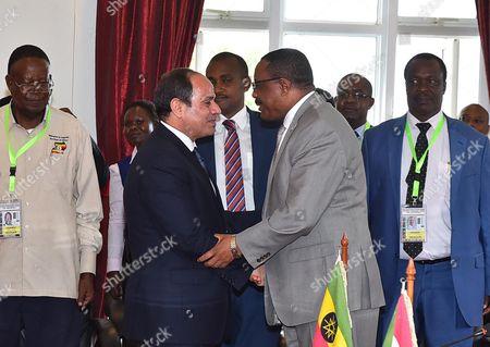 Egyptian President Abdel Fattah al-Sisi and Prime Minister of Ethiopia Hailemariam Desalegn