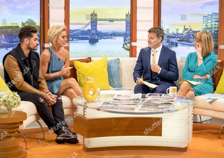 Louis Smith and Natalie Lowe with Ben Shephard and Kate Garraway