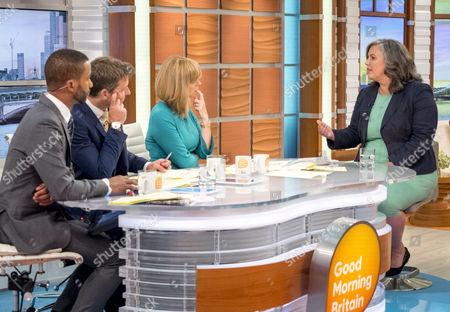 Sean Fletcher, Ben Shephard, Kate Garraway with Heidi Alexander MP