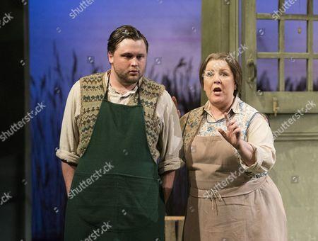 Richard Pinkstone as Albert Herring, Kathleen Wilkinson as Mrs Herring