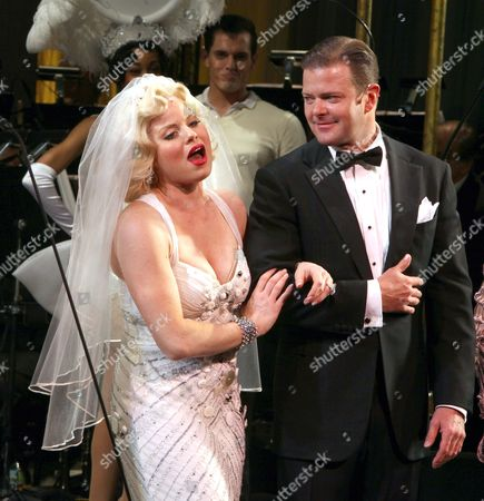 Megan Hilty & Clarke Thorell During the Final Performance Curtain Call For the New York City Center Encores! Production of 'Gentlemen Prefers Blondes' at City Center in New York City On 5132012