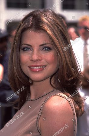 Yasmine Bleeth of 'Titans' May 2000